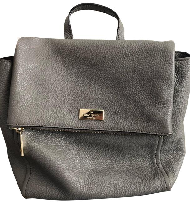 Item - Grey Leather Backpack