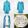 Boden Blue Military Style Fitted Teal Epaulets Mid Length Back Belt Coat Size 6 (S) Boden Blue Military Style Fitted Teal Epaulets Mid Length Back Belt Coat Size 6 (S) Image 7