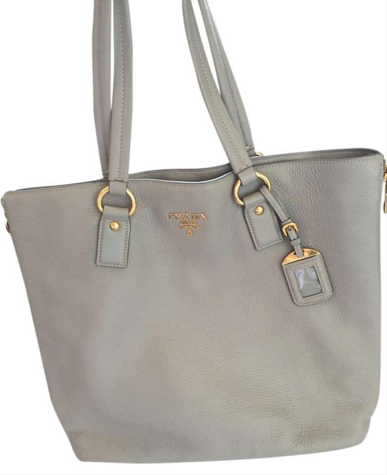 prada saffiano lux tote bag blue - Prada Leather Large Light Grey With Gold Hardware Tote Bag on Sale ...