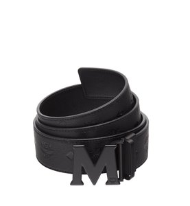 MCM MCM clause M belt monogram leather 1.75w51in
