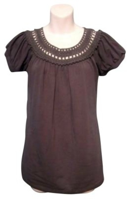 Preload https://item5.tradesy.com/images/gray-crocheted-detail-blouse-size-6-s-26189-0-0.jpg?width=400&height=650