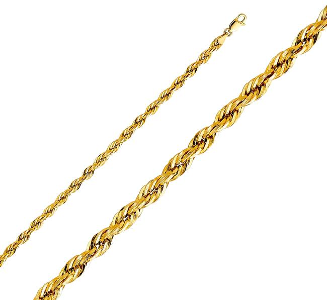 "Item - Yellow 14k 4mm Silky Rope Cut Chain - 26"" Necklace"