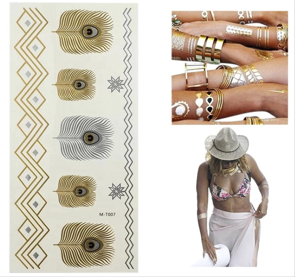 Trend Gold Silver Foil Temporary Tattoos #2618947