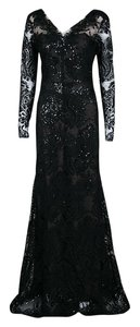 Black Maxi Dress by Marchesa Notte Floral Embellished Embroidered