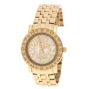 Etienne Aigner Champagne Gold Plated Stainless Steel A26337 Women's Wristwatch 36MM
