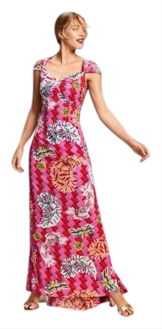 Item - Magenta/Multi Safety Pin Long Cocktail Dress Size 4 (S)