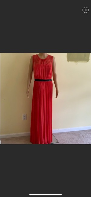 Item - Pink Sheer/Cotton Abs Formal Bridesmaid/Mob Dress Size 16 (XL, Plus 0x)