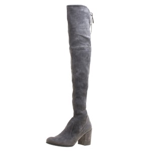 Stuart Weitzman Suede Leather Rubber Grey Boots