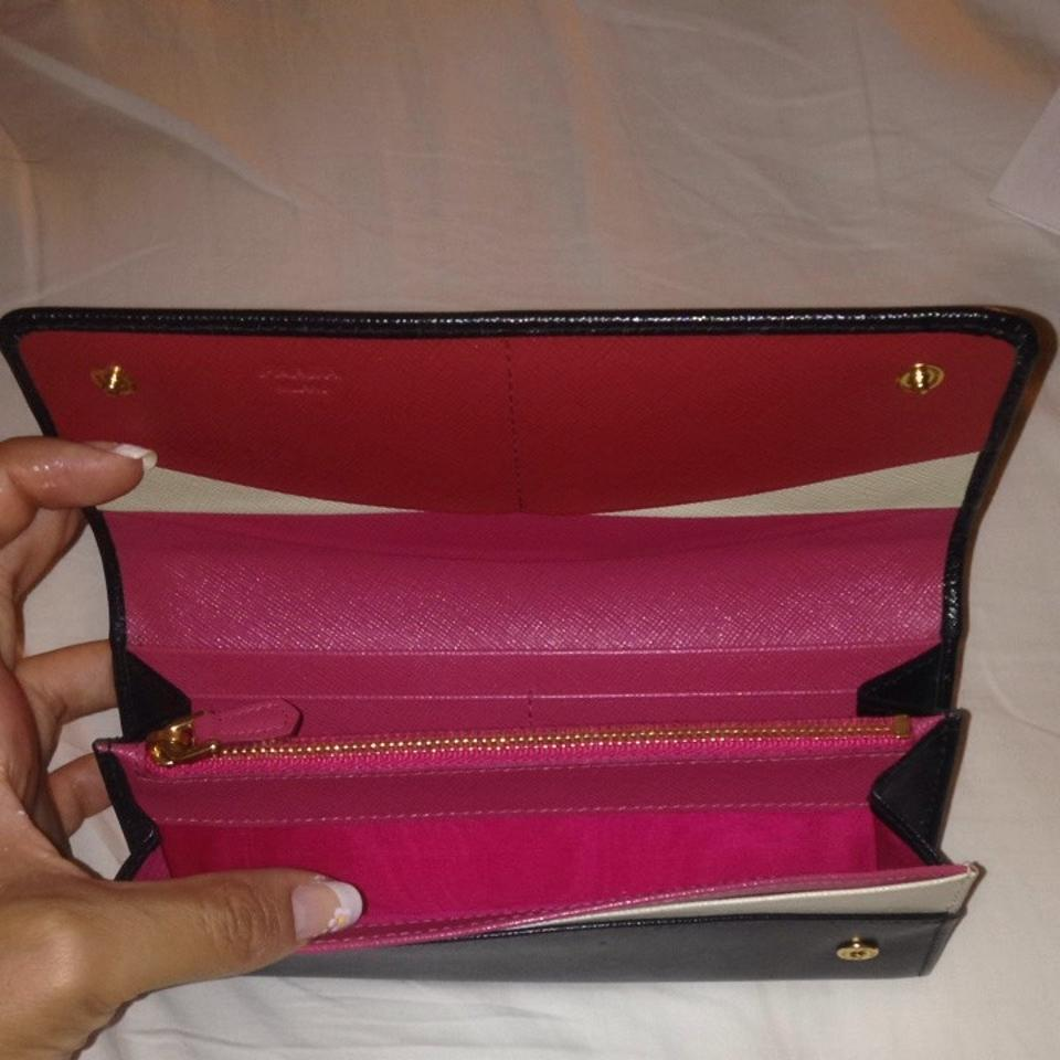 7d72f551fce231 Prada Authentic Prada Saffiano Leather Wallet Tri Color Pink Image 4. 12345