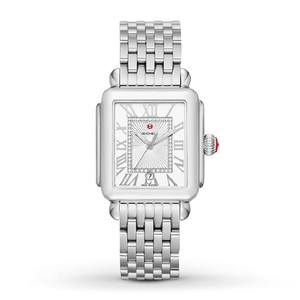 Michele Deco Madison Stainless Steel Sunray Diamond Dial MWW06T000141