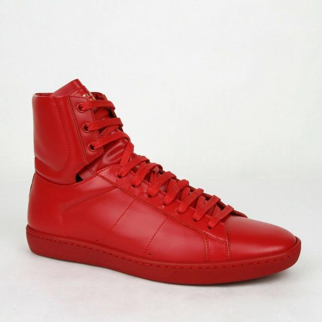 Item - Red Leather Sl/01h Hi Top Sneaker 42.5/Us 9.5 417850 6422 Shoes