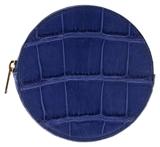 Preload https://img-static.tradesy.com/item/26191321/celine-blue-croc-embossed-round-zip-coin-purse-tech-accessory-0-2-540-540.jpg