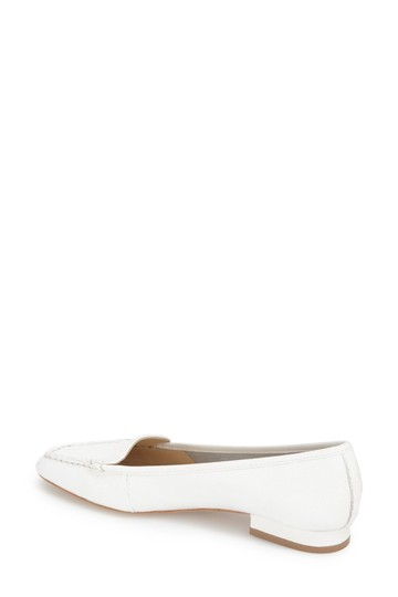 Bettye Muller Loafer Leather White Flats Image 1