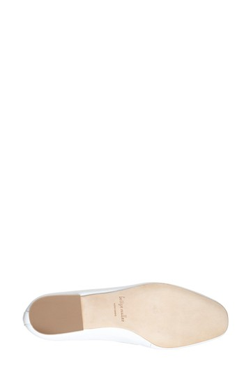 Bettye Muller Loafer Leather White Flats Image 3