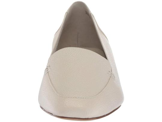 Bettye Muller Loafer Leather White Flats Image 6