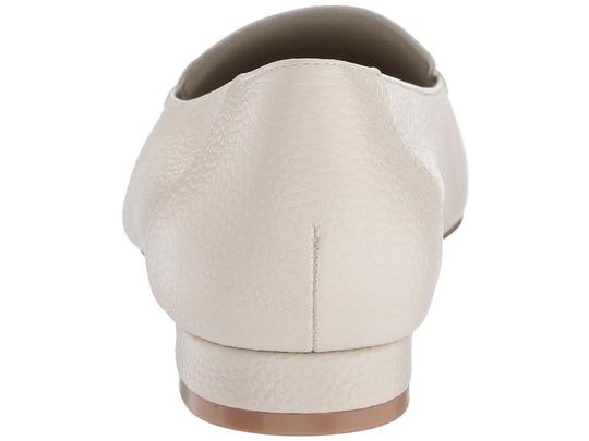 Bettye Muller Loafer Leather White Flats Image 7