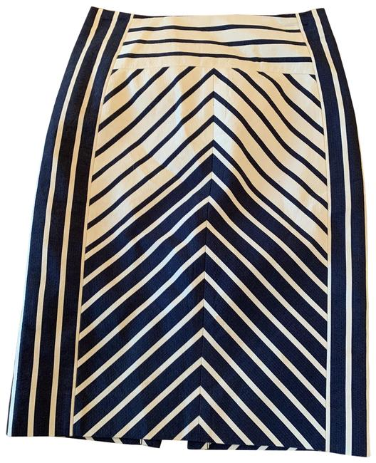 Item - Navy and White No. 2 Pencil Skirt Size 0 (XS, 25)