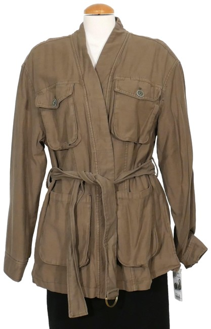 Item - Army Green L In Our Nature Cargo Cotton Belted Jacket Size 14 (L)