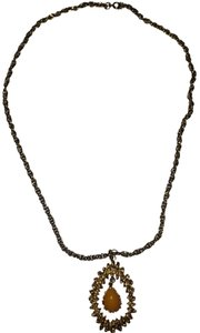 Sarah Coventry Sarah Coventry Amber Teardrop Necklace