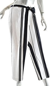 Ivan Grundahl Cotton Striped Trouser Pants Black White