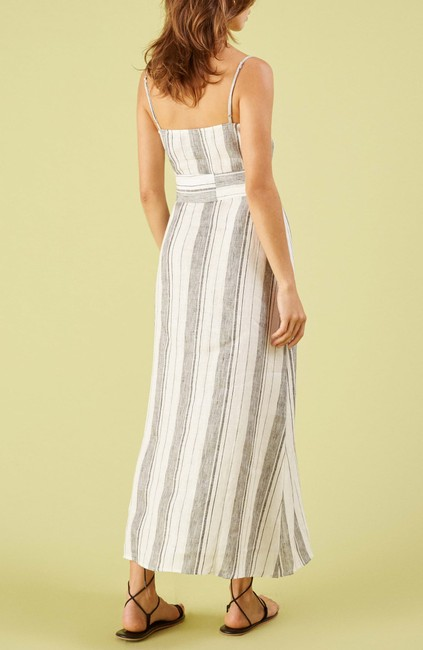 White Maxi Dress by Reformation Midi Striped Belted Image 4