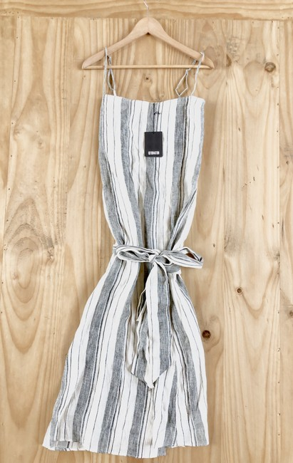 White Maxi Dress by Reformation Midi Striped Belted Image 5