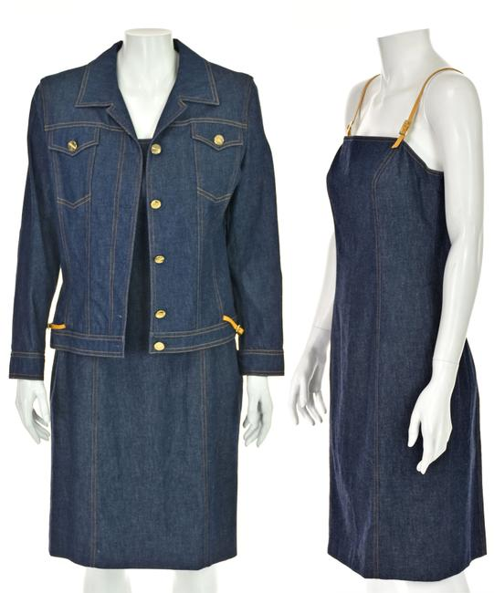 Item - Blue Denim Two-piece Jacket And Short Casual Dress Size 8 (M)