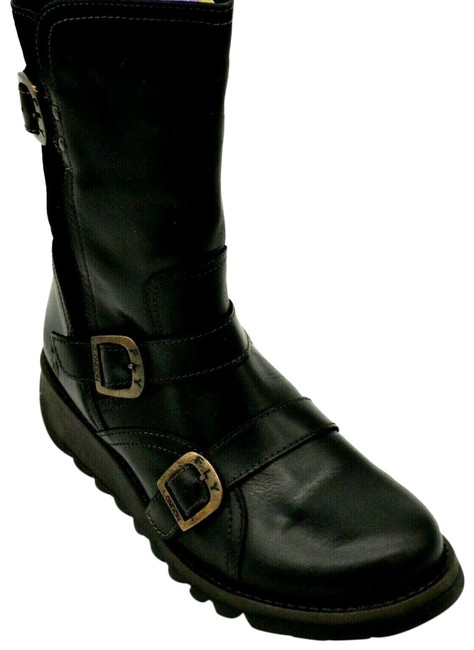 FLY London Black Buckle Strap Selk Leather Boots/Booties Size EU 41 (Approx. US 11) Regular (M, B) FLY London Black Buckle Strap Selk Leather Boots/Booties Size EU 41 (Approx. US 11) Regular (M, B) Image 1