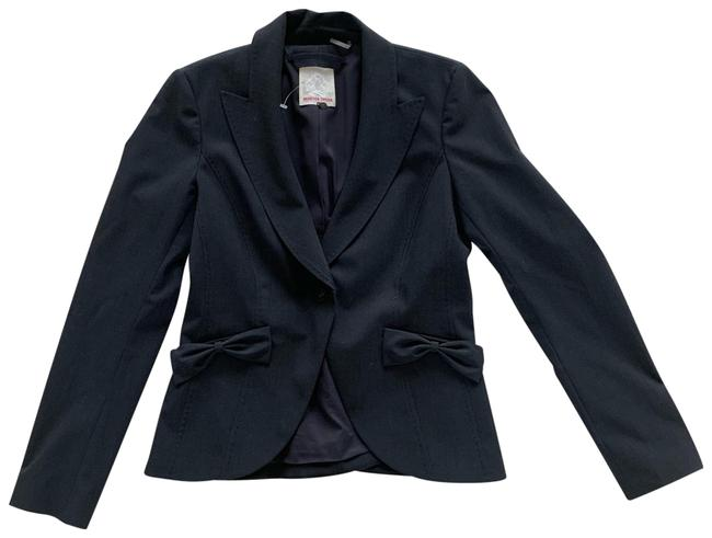 Rebecca Taylor Navy Blue Stitched Nwot Cotton Blazer Size 2 (XS) Rebecca Taylor Navy Blue Stitched Nwot Cotton Blazer Size 2 (XS) Image 1