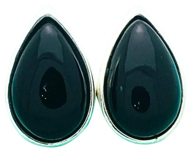 Tiffany & Co. Rare Paloma Picasso 21.5g Silver with Black Onyx Clip-on Earrings Tiffany & Co. Rare Paloma Picasso 21.5g Silver with Black Onyx Clip-on Earrings Image 1