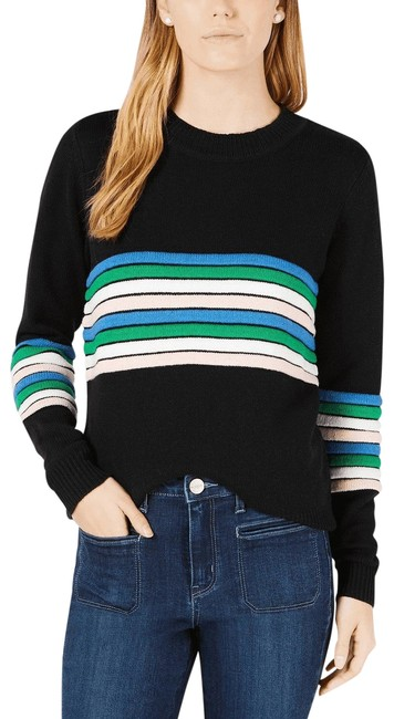Preload https://img-static.tradesy.com/item/26193434/maison-jules-striped-women-xxs-new-227-black-sweater-0-1-650-650.jpg