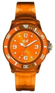 Ice JYOTUU10 unisex Jelly Orange Rubber Band Analog Orange Dial Watch