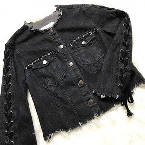 cupcakes and cashmere Black Womens Jean Jacket