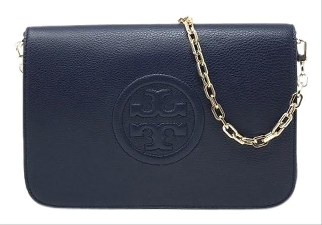 Item - Clutch Bombe New Convertible Navy Leather Shoulder Bag