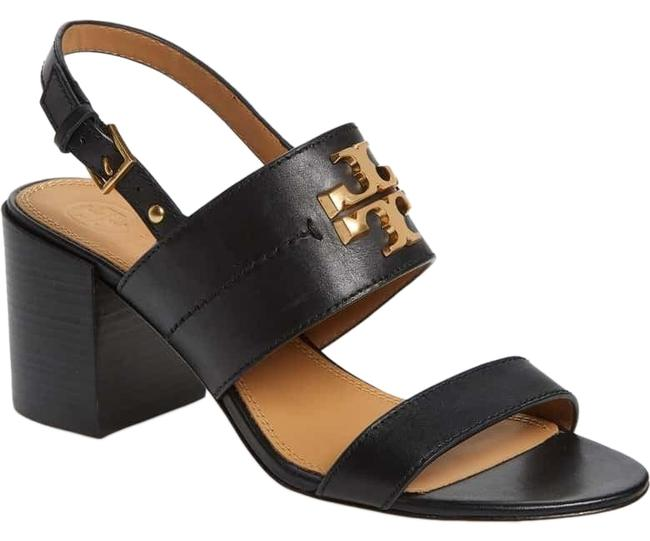 Tory Burch Black / Gold Everly 65mm Calf Leather Sandals Size US 7 Regular (M, B) Tory Burch Black / Gold Everly 65mm Calf Leather Sandals Size US 7 Regular (M, B) Image 1