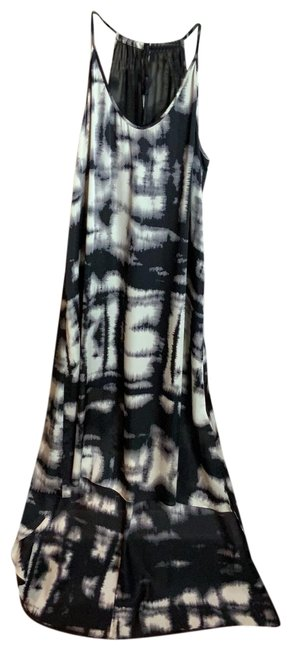 Item - Black White and Gray Mid-length Casual Maxi Dress Size 8 (M)