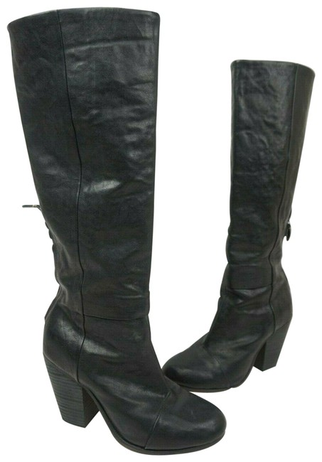 Rag & Bone Black Newbury Leather Knee High Tall Heeled Boots/Booties Size EU 38.5 (Approx. US 8.5) Regular (M, B) Rag & Bone Black Newbury Leather Knee High Tall Heeled Boots/Booties Size EU 38.5 (Approx. US 8.5) Regular (M, B) Image 1