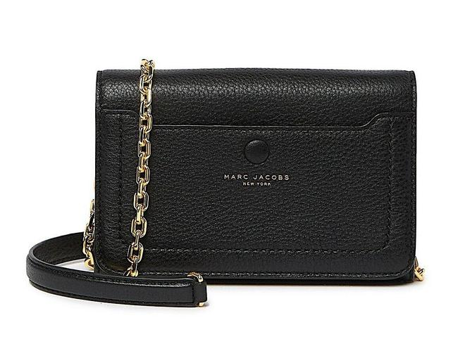 Marc Jacobs Empire City Wallet Black with Tag Leather Cross Body Bag Marc Jacobs Empire City Wallet Black with Tag Leather Cross Body Bag Image 1