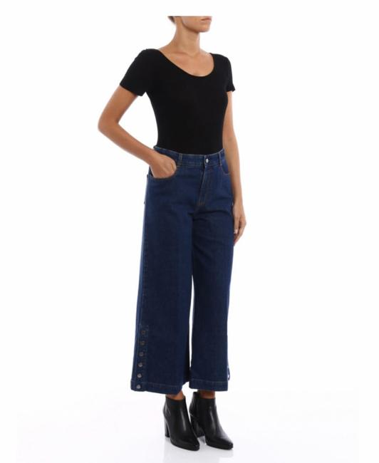 Item - Blue Cropped High-rise Wide Snap Flare Leg Jeans Size 25 (2, XS)