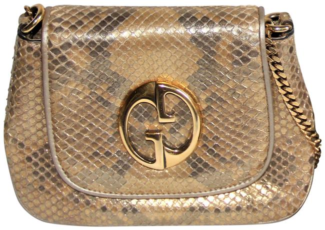 Gucci 1973 Rare Gold-tone Metallic Gold Python Cross Body Bag Gucci 1973 Rare Gold-tone Metallic Gold Python Cross Body Bag Image 1