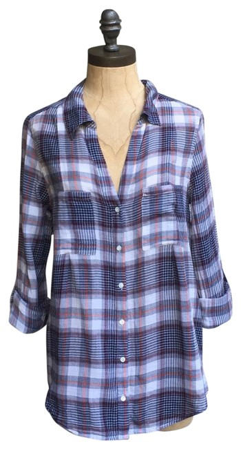Preload https://img-static.tradesy.com/item/26194475/joie-multicolor-cartel-plaid-cotton-shirt-button-down-top-size-2-xs-0-2-650-650.jpg