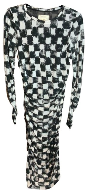 Item - Naturally Faded Black and White Long Casual Maxi Dress Size 12 (L)