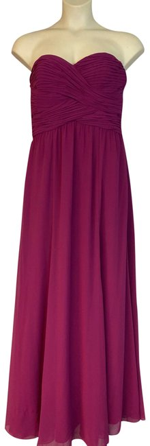 Item - Magenta Strapless Poly Evening Long Cocktail Dress Size 12 (L)