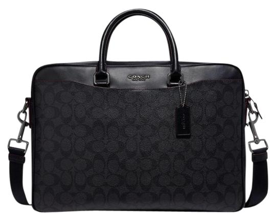 Preload https://img-static.tradesy.com/item/26194757/coach-beckett-slim-brief-in-signature-blackoxblood-coated-canvas-laptop-bag-0-1-540-540.jpg