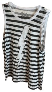 CHASOR Top black and white striped