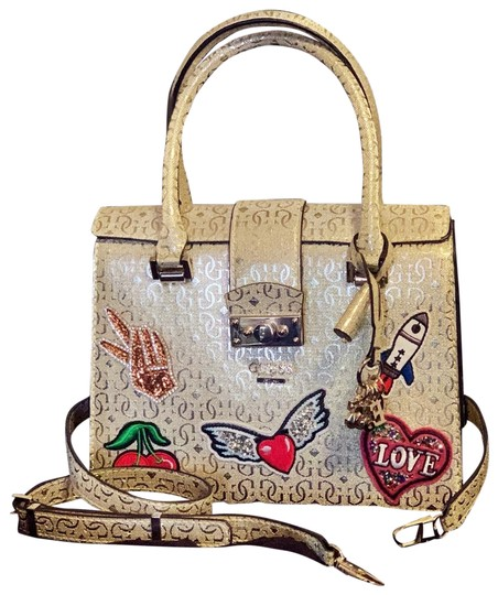 Preload https://img-static.tradesy.com/item/26194824/guess-gold-white-tan-red-green-blue-purple-satchel-0-1-540-540.jpg