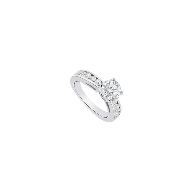 White 14k Gold 1 Carat Engagement with Triple Aaa Quality Cz Ring White 14k Gold 1 Carat Engagement with Triple Aaa Quality Cz Ring Image 1
