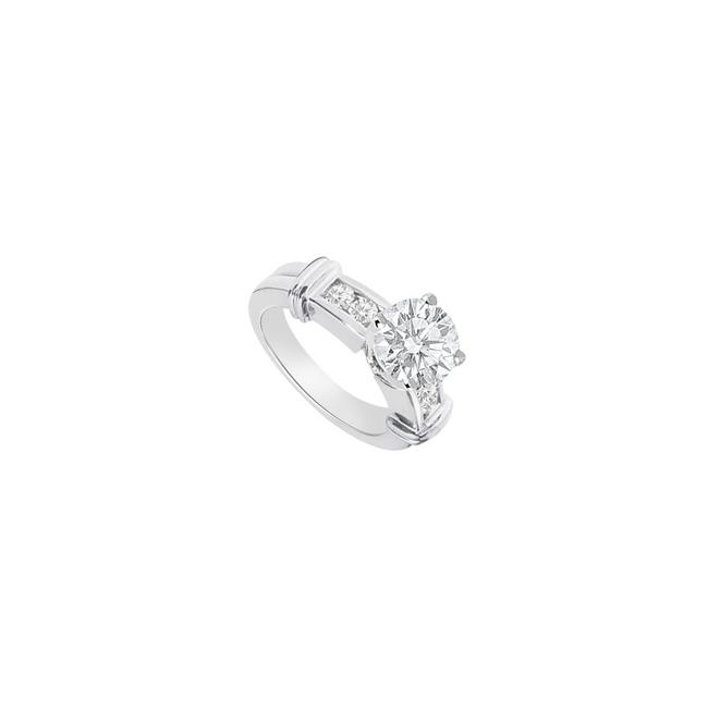 White Cubic Zirconia Engagement In 14k Gold 0.75 Carat Total Gem Ring White Cubic Zirconia Engagement In 14k Gold 0.75 Carat Total Gem Ring Image 1