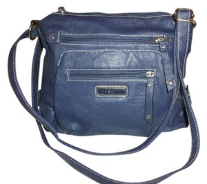 Rosetti Navy Polyvinyl Cross Body Bag