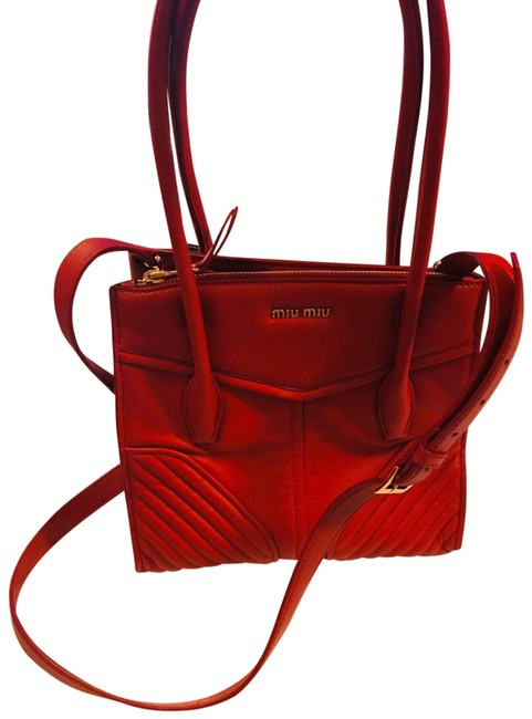 Item - Red Soft Leather Cross Body Bag